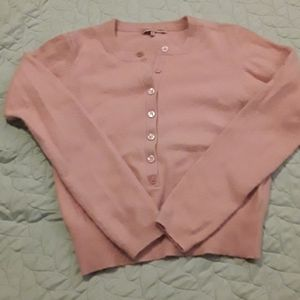 Adorable vintage pink angora blend sweater